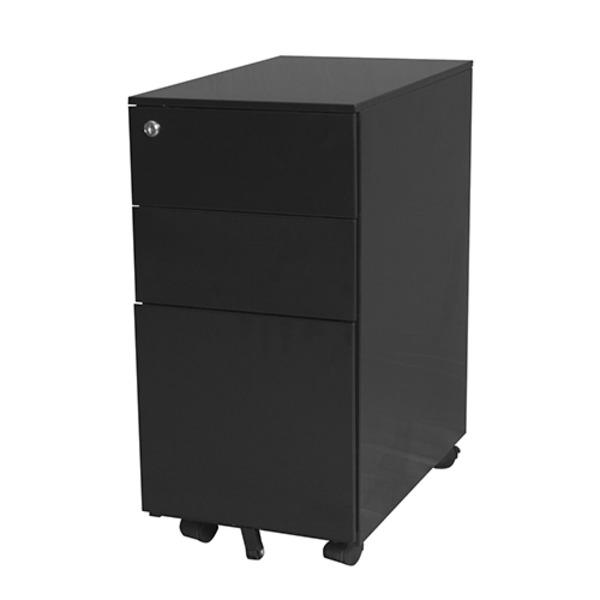 Steelco Metal Slimline Mobile Drawer Pedestal