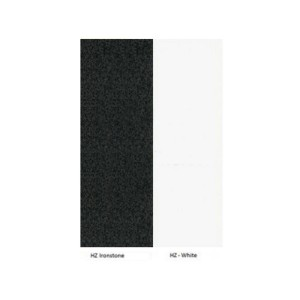 Logan Sliding Door Credenza with Hutch Storage Shelving - White & Ironstone