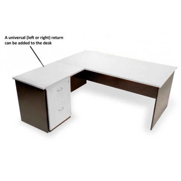Logan Office Desk Home Study White & Ironstone
