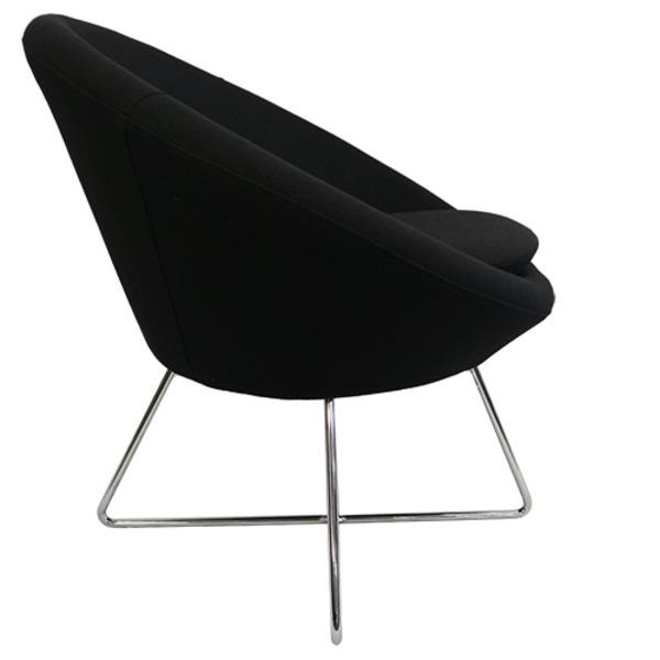 Podi Visitor Tub Style Chair Metal Designer Base