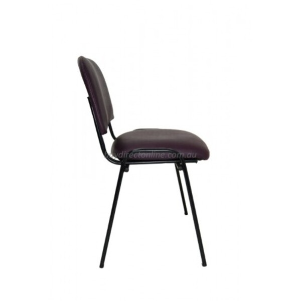 Omega 4 Leg Visitor Chair Stackable Frame Fabric or Vinyl Upholstery Option