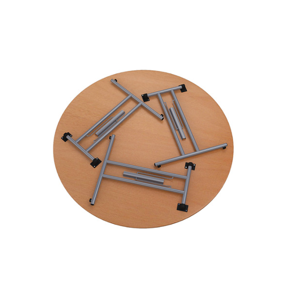 Eclipse Trestle Table Round Top Metal Legs