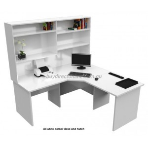 Origo Corner Office Desk Workstation with Hutch Storage Shelf Home Study