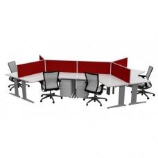 Chicago 3000 - 6 Way Workstations - 120 Degree Desks