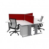 Chicago 4000 - 3 Way Workstation - 120 Degree Desk Tops