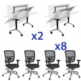 Combo Eiffel Folding Table & Energy Mesh Chair