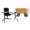 Combo Eiffel Folding Table & Adam Stacking Chair XL