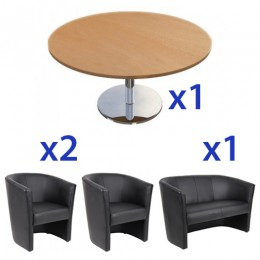 Vivian Lounge and Coffee Table Combo