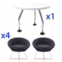 Podi Visitor Chair and Coffee Table Combo Deal
