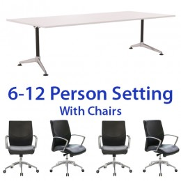 Eiffel Boardroom Table & Zoot Executive Medium Back Chair Combo