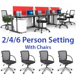 Rivoli Desk Setting & Rocket Task Chair Combo