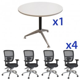 Eiffel Meeting Table & Energy Mesh Chair Combo