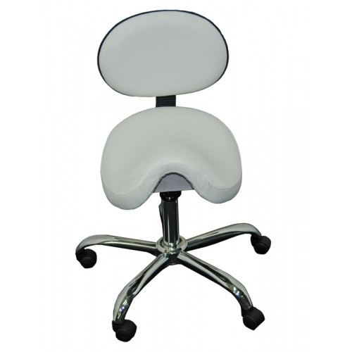 Saddle Stool Seat Gas Lift Chair With Back Rest