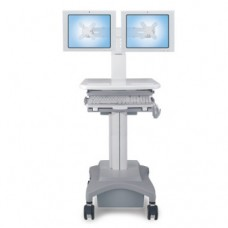 Medical Mobile Computer Cart - Double Monitor