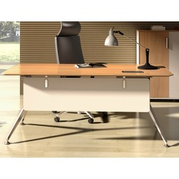 timber office desk. potenza straight desk timber office