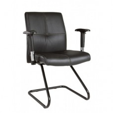 Office Chair Cantilever With Arms Heavy Duty Black Visitor Meeting Chairs Me