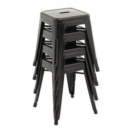 45cm Tolix Retro Reproduction Bar Stools - Set of 4