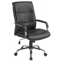 Executive Padded Office Chair in PU Leather