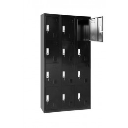 Twelve-Door Metal Locker