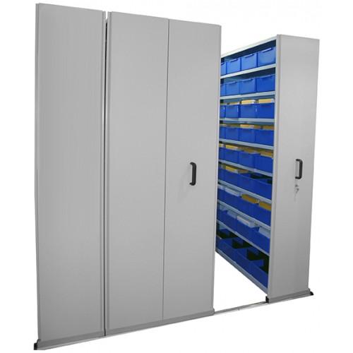 Ezi Slide Aisle Saver Compactus Storage Shelving For Sale