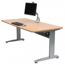 Altex 100 Height Adjustable, Sit Stand Up Desk - 1500 x 750