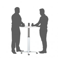 Breakout Height Adjustable Meeting and Drinks Table