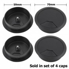 Cable Hole Entry Cover Caps 60mm x 4