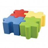 Jigsaw Puzzle Ottomans - Set of 4 Pieces