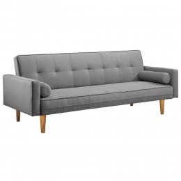 3 Seater Faux Linen Fabric Sofa Bed