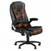 8 Point Massage Office Chair Black - 200kg Rating
