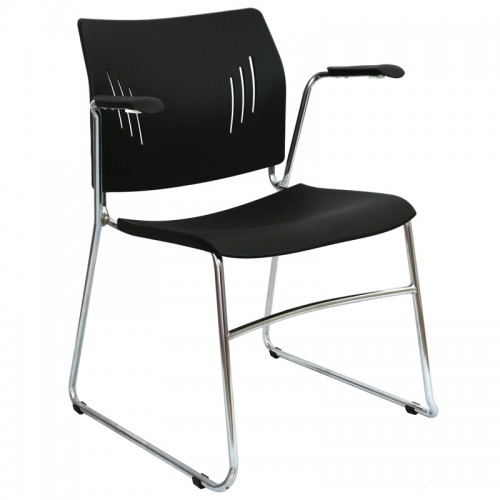 Sale Win Arm Chair Plastic Sled Base Arms Stacking Conference Visitor Chairs