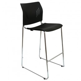 Win Stool, Plastic Sled Base Stacking Cafe Bar Visitor Stools
