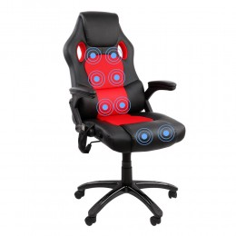 XR8 Massage Racing Chair - 150kg (Red & Black)