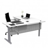 Chicago Corner Workstation Desks with Modesty Panel