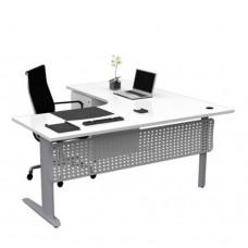 Chicago Corner Workstation Desks with Modesty Panel