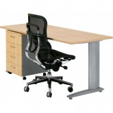 Chicago Straight Office Desk, Metal frame Desks