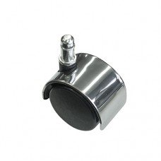 Office Chair Casters with Polished Metal Accent, Chrome Chair Wheels