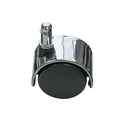 Office Chair Castors With Polished Metal Accent Chrome