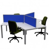 Cubit 3 Way Workstation Pod - 120 Degree Desks