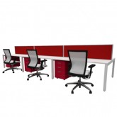 Cubit Raceway - 6 person Call Center Workstations