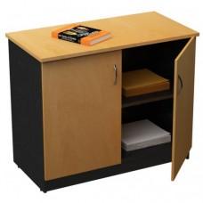 Desk Credenza - Storage Cupboard, Lockable Doors