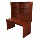Origo Office Desk with Hutch - Dark Cherry