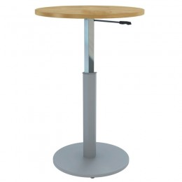 Height Adjustable Round Meeting Table