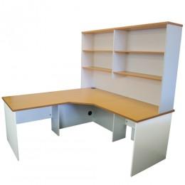 office corner desk. Origo Corner Workstation Office Desk, Home Study - Beech \u0026 White Desk