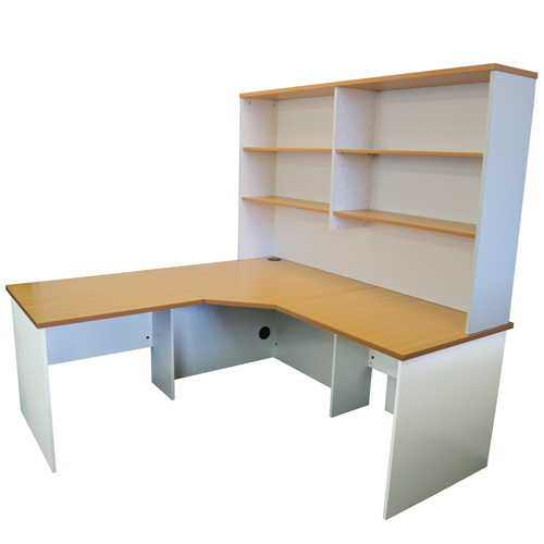 Origo Corner Workstation Office Desk Home Study Beech
