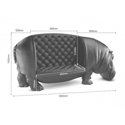Hippopotamus Animal Sofa Chair - Replica from Animal Chair Collection by  Maximo Riera