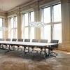 Eiffel Boardroom Meeting Table - Twin Post Metal Leg