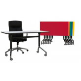 Eiffel Folding Table, Flip Top Table, Mobile Office Table Bright Colours