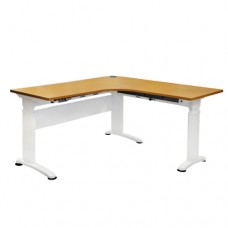 Ergo-Rise Corner Workstation, Electric Height Adjustable Standing Desk