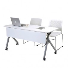 Flip Folding Table with Modesty Panel